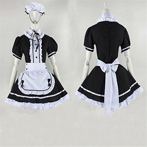 Cosplay Zofenkleid japanischen Anime Kostüme Restaurant Maid Schwarz (Maid Kostüme Japanische Cosplay)