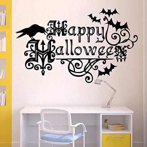 e happy halloween party decor wandaufkleber wohnzimmer schlafzimmer dekoration vinyl wasserdicht diy kunst aufkleber ()