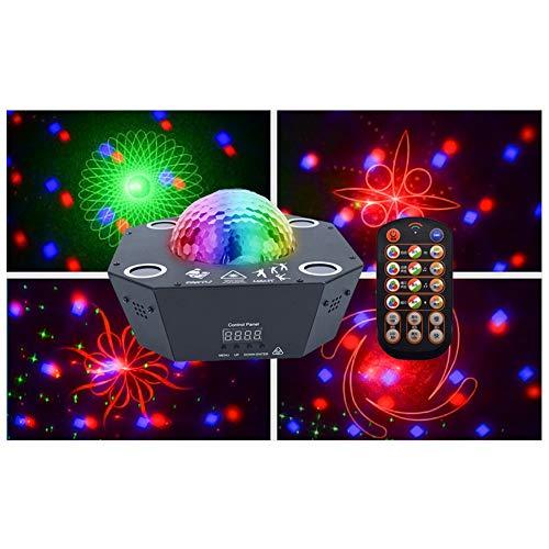 Disco Ball Lampen 4 Kanäle Fernbedienung Sound Aktiviert Bühnenbeleuchtung 25 Watt RGBW Beleuchtung Party Lichter for Weihnachtsgarten Dekorationen Halloween Urlaub Party Hochzeit Rasen Dekoration -71