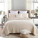 Beddingleer 100% Cotone set di 3 coperte letto matrimoniale invernale Morbido 230x250cm