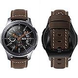MroTech Lederarmband für Gear S3 Armband, 22mm Uhrenarmband Leder Uhrenband für Fossil Herren, Samsung Gear S3 Frontier Classic, Moto 360 2 46mm Men Pebble Smartwatch Ersatzarmband (Dunkelbraun/L)