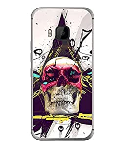 PrintVisa Designer Back Case Cover for HTC One M9 (colourful chained skull of head)