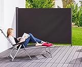 Seiten-Markise Wind-Schutz Sichtschutz Sonnen-Schutz 200 x 300 cm Anthrazit