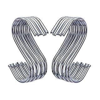 Outus 20 Pack Forme en S Crochets pour Salle de Bains, Chambre, Bureau et Cuisine