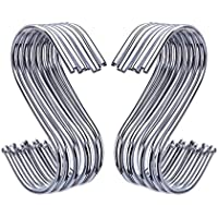 20 Pack S Shaped Hooks Hanging Hooks Hangers for Bathroom, Bedroom, Office and Kitchen