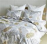 Wondder 2/3PCS Bettbezug Set Weich Polyester Mikrofaser Luxus ägyptischen Qualität Bettwäsche-Set (200 * 200 cm, A)