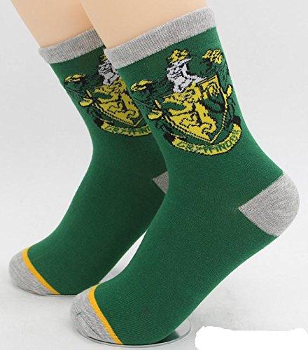 1 Paar Hogwarts Socken Wappen Gryffindor - 90-100% Baumwolle - Farbe grün (Harry Potter Paar Kostüme)