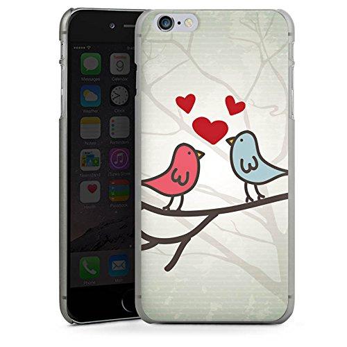 Apple iPhone 5 Housse Étui Protection Coque C½ur Oiseau Amour CasDur anthracite clair