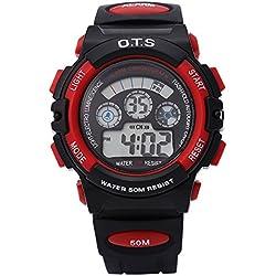 Leopard Shop OTS 833 Children Boy Multifunction LED Digital Watch Sport Wristwatch Water Resistance #3
