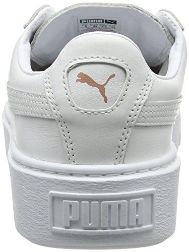 Puma Basket Platform Metallic, Low Athletic Sneakers Woman (oro Rosa Blanco)