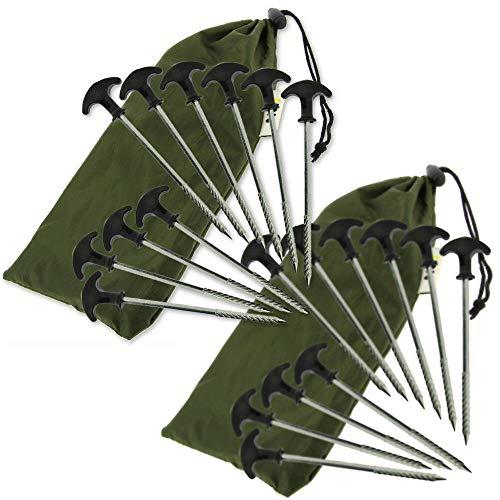 Generic Abri à Pinces de 0 cm pour Tente de Camping, par Exemple abri 20 x Tente de ping-ping Robuste 20 cm piquets pour Bivouac de pêche
