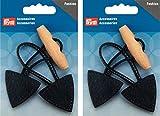 Prym Fermoir Toggle Duffle Coat Bouton–Cuir Noir–Lot de 2