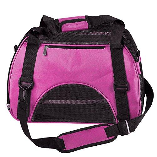 katzeninfo24.de Ayliss® Faltbar Transporttasche Hundetasche Haustier Hunden & Katzen Reise Tragetasche Transportbox S M L (Klein(S), Pink)