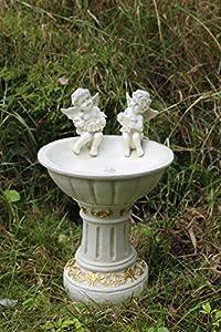 Solar Powered Garden Ornament Fairy Secret Garden Cherub Angel Bird Bath