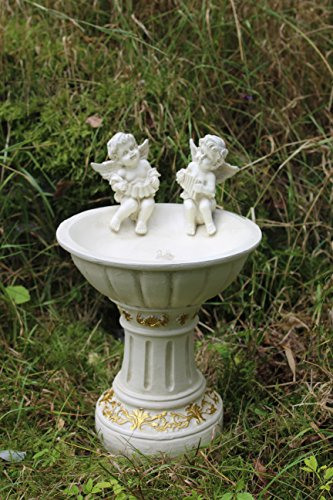 Solar Powered Garden Ornament Fairy Secret Garden Cherub Angel Bird Bath Test