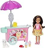 Best Barbie Animal - Barbie FDB33 Club Chelsea Ice Cream Cart Doll Review