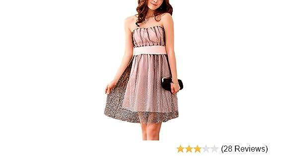 VIP Dress Chiffon Cocktailkleid   Jugendweihekleid   Abschlusskleid kurz in  Rosa, Größe 44  Amazon.de  Bekleidung d44743acdf