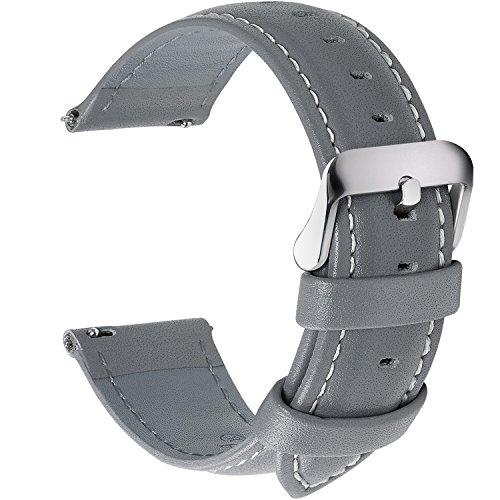 Fullmosa 12 Farben Uhrenarmband, Axus Serie Lederarmband Ersatz-Watch Armband mit Edelstahl Metall Schließe für Herren Damen 18mm ()