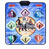 G'z Led Wireless Single Dance Mats, Foam Play Mat Thickening Soundproofing Soft Dance Mats for Adults/Children Hd Tv Computer Dual-Use English Manual, A, 89 * 81Cm