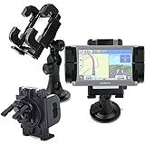 Soporte Para GPS TomTom Start 40 EU45 LTM / Start 50 / NozaTec 7'' - Rotación 360 Grados - Con Abrazaderas y Fuerte Ventosa - DURAGADGET