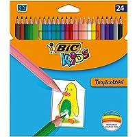 BIC Kids Tropicolors - Pack de 24 lápices de colorear, multicolor