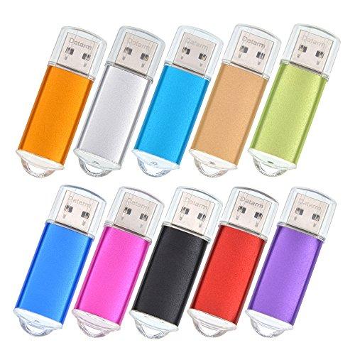 64MB Speicherstick 100 Stück Mini Mehrfarbig USB Sticks - Metall USB Flash Laufwerk Bunt Tragbar Memory Stick USB 2.0 - Externe Geräte Datenspeicher Logo USB Flash Drive by Datarm