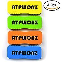 ATPWONZ Juego de borrador de pizarra blanca magnética Limpiador de limpieza en seco Limpiador de borrado para plumas y marcadores secos Colores aleatorios (4 paquetes)