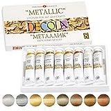Nevskaya Palitra - Set di Colori acrilici Metallizzati, 8 x 20 ml