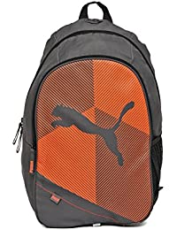 abd6ca4c83d Puma Deck Steel Grey And Puma Red Casual Backpack Best Deals With ...