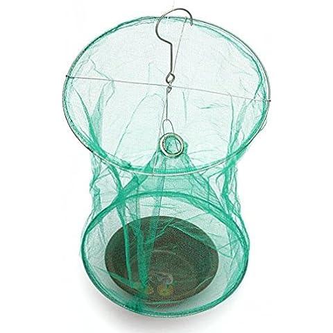 Kungfu Mall Gardening drosop Hila Volare caso Net Reusable Trappola per insetti assassini Cage