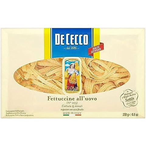 De Cecco Fettuccine De Huevo (250g) (Paquete de 6)