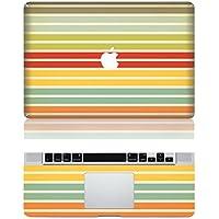 Vati Foglie estraibile orizzontale Stripe protettiva copertura completa di arte del vinile Decal Sticker Cover per Apple MacBook Pro Retina da 15,4