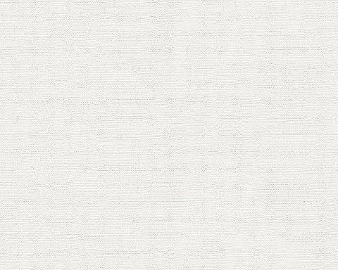 Schöner Wohnen Vliestapete Tapete Unitapete 10,05 m x 0,53 m weiß Made in Germany 304073 30407-3