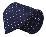#2: Modo Formal Ties For Men, Geometric Dark Blue Extra Slim Tie