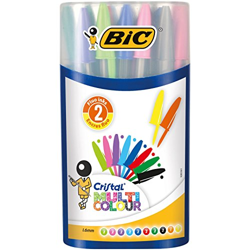 Bolígrafo Bic Cristal, y no extensibles 926 380 colores clásicos multicolores