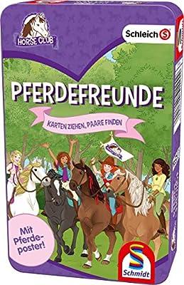 Schmidt Spiele 51424 Horse Club Boîte Métal, Multicolore - Version Allemande