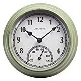 AcuRite 02470 Rustic Green Outdoor Clock...