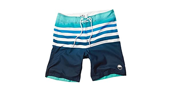 d6d2672bba Hollister Men's Classic Fit Swim Shorts Trunks Beach Boardshorts, Size XL,  Blue and Turquoise Stripe (614987559): Amazon.co.uk: Clothing