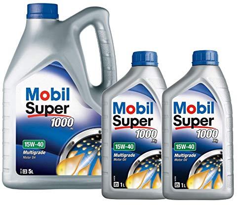 Mobil 151180 Super 1000 X1 - Olio Motore 15W-40, Confezione da 7 Lit