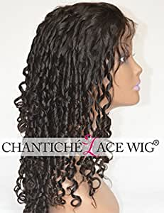 Chantiche 100% Brazilian Remy Human Hair Oprah Curl Wigs For African Americans Curly Lace Front Wigs For Black Women 130 Density Medium Size Cap 14 Inches Natural Color