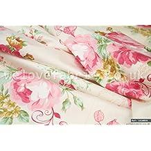 Color rosa rosas Vintage 100% algodón tela por metro ancho de 1,6M