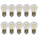 10er, G45 E27 LED Lampe Filament Glühfaden Edison Glühbirne Retro Birne, Warmweiß 2700K, 2W / 150LM, Nicht Dimmbar, Ersatz für 15W Glühlampen, AC220-240V