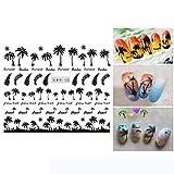 Cooljun Sticker Autocollant Ongle Deco Manucure Nail Art Stickers-Appliquer sur les...