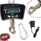 YIYIBY digital Kranwaage 500kg Kraftmesser Kranwaage Lastenwaage Industriewaage LED-Anzeige Waage Hook