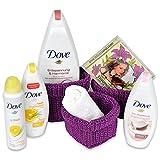 Unbekannt Handverpacktes Geschenkset für Frauen Lady Harmony inklusive Dove Schaumbad sowie Duschbad plus Deospray und entspannender Wellness CD