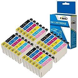 Fimpex Compatible Encre Cartouche Remplacement pour Epson P50 PX650 PX660 PX700W PX710W PX720WD PX730WD PX800FW PX810FW PX820FWD R265 R285 R360 RX560 RX585 RX685 T0807 (BK/C/M/Y/LC/LM, 24-Pack)