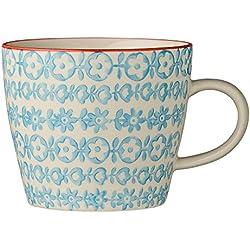 Bloomingville Tasse mit Henkel Carla Porzellan blau Kaffeetasse handbemalt NEU 2015