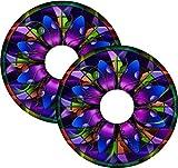 Rollstuhl-Speichenschutz-Aufkleber, Kirchenfensterglas-Motiv