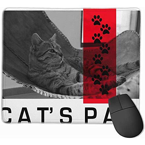 So kann ich Sie Tatzen-Druck-Katzen-Miezekatze-genaue schließende Büro-Büro-Schreibtisch-Matten aufrechterhalten