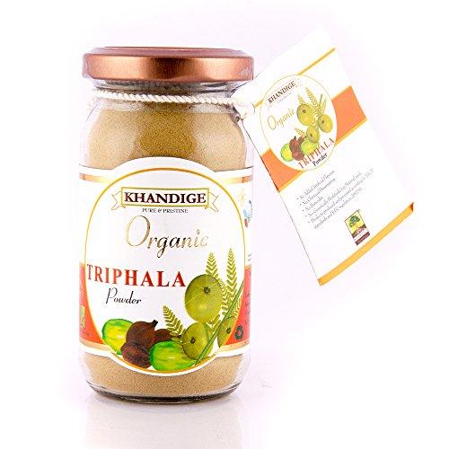 Khandige Organic USDA Certified Triphala(Amla,Harad,Baheda) Powder/Churna,Natural antioxidant - 250g  available at amazon for Rs.181